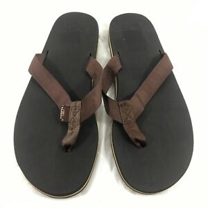 72e04a3b07d0 Men s Rainbow Sandals Classic Flip Flops Brown nylon Sz XXXL US 13.5 ...