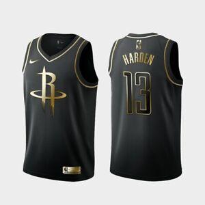 huge discount acbda 8ff6d Details about James Harden #13 Houston Rockets Limited Gold Edition Men  Jersey The Beard BLACK