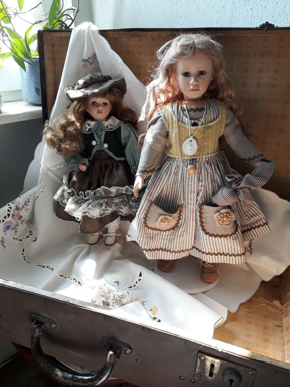 2 2 2 Puppen Sammlerpuppen Künstlerpuppen Porzellankopf 3e70e2