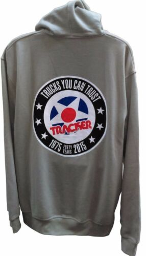 Tracker TRUCKS YOU CAN TRUST FORTY YEARS ZIP UP Skateboard Hoodie GREY MEDIUM