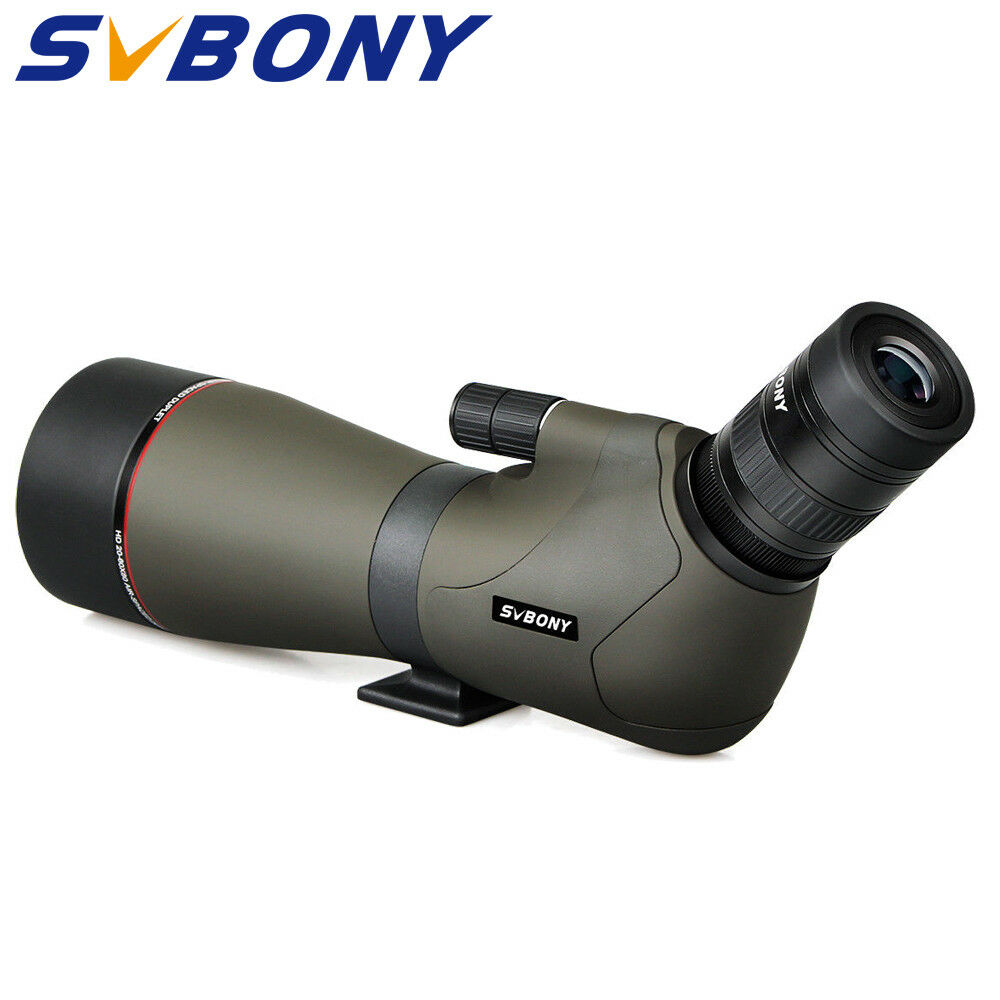 SVBONY SV46 Spotting Scopes 20-60x80 Bak4 Zoom FMC Nitrogen Filled Waterproof