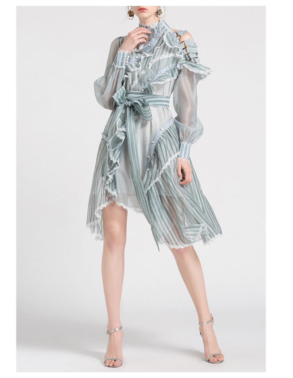 6c31192efd1f Women's Fashion Collar Irregular Design Sleeve Knee Length Dress Long  Runway npdmae4385-Dresses