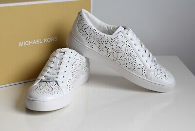 Michael Kors Womens Sneakers Catelyn Lace Up Size 37 38 Optic White | eBay