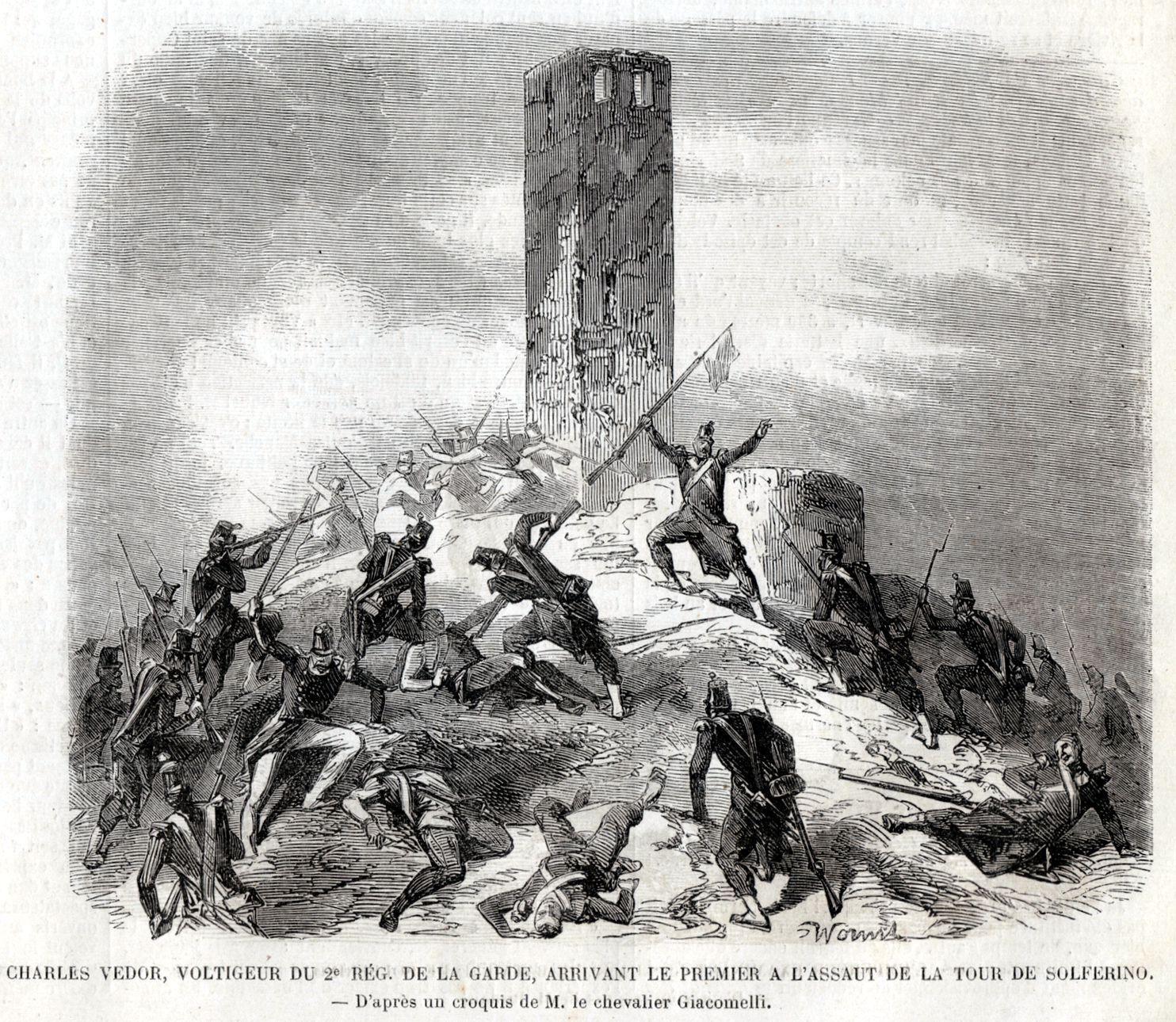 Vedor,il Primo all/'Assalto della Torre.Risorgimento.1859 BATTAGLIA DI SOLFERINO