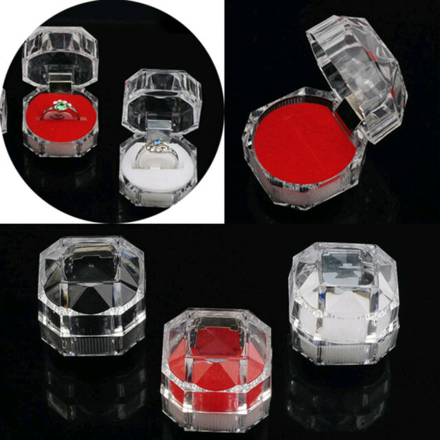 Wholesale 30pcs Mixed Fashion Plastic Crystal Jewelry Ring Display Storage Boxes
