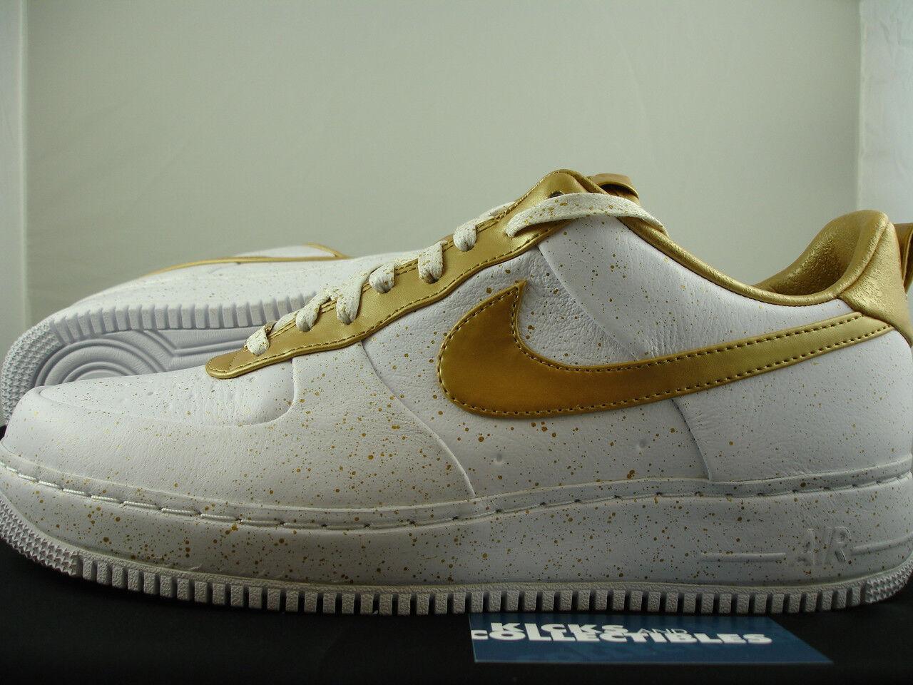 Nike Supreme Air Force 1 Low Supreme Nike TZ 11.5 12 13 Gold premium lebron 516630-170 3b4f13