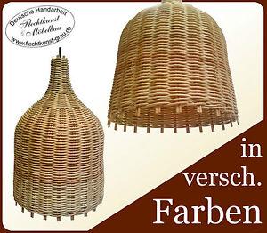 Design-Haengeleuchte-034-Flasche-034-Rattan-geflochten-Haengelampe-Lampe-Pendelleuchte