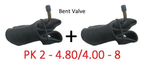 2 x 4.80 Wheelbarrow Inner Tube 4.00-8 Innertube /& BENT VALVE Wheel