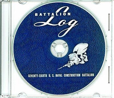 Seabees NCB 60th  Naval Battalion Log WWII on CD RARE CB
