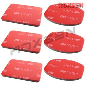 6 pcs 3M VHB Adhesive Sticker Set for GoPro Helmet Mount Camera Hero HD 2 3 Red