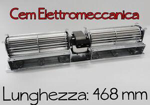 Ventilatore Motore Tangenziale a 2 ventole. per forno frigo termoconvettori ecc