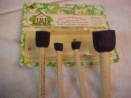Susan Branch Plaid Stencil Spouncers 4 Spouncers Daubbers