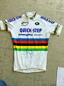 RARE-2008-Paolo-Bettini-039-s-own-World-Champion-jersey-SIGNED