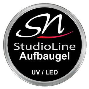SN Aufbaugel UV LED klar 15ml dickviskos Builder Gel clear Nagelgel Gelnägel