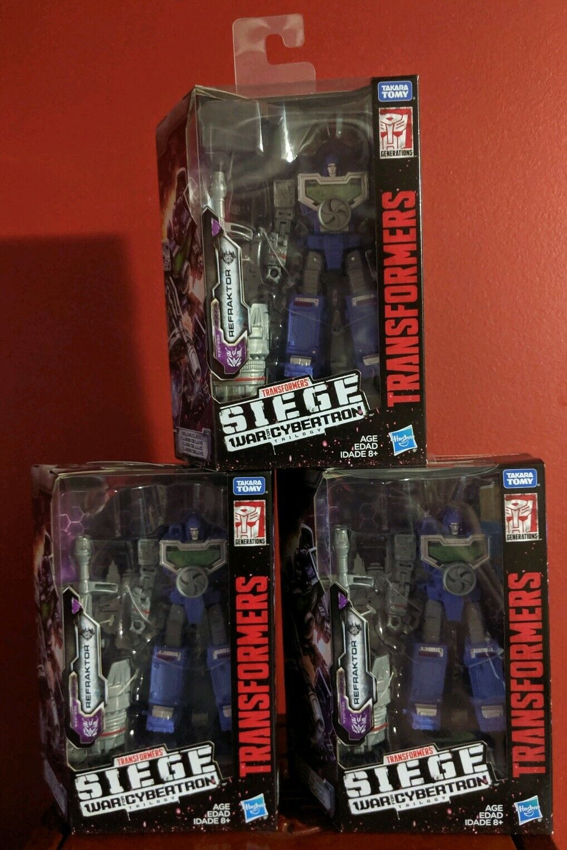 Transformers asedio guerra por Cybertron refraktor Reflector WFC-S36 Deluxe Set