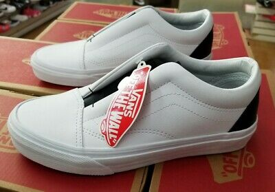 Vans Classic Slip On DX Womens (Tumble Leather)BlackTrue White 6.5