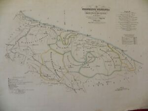 Bari Cartina Geografica.Manzella 1859 Carta Geografica Puglia Bari Barletta Gravina Matera Venosa Fasano Ebay