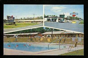 Georgia-GA-postcard-Claxton-Miami-Motel-amp-Restaurant-multi-view-pool