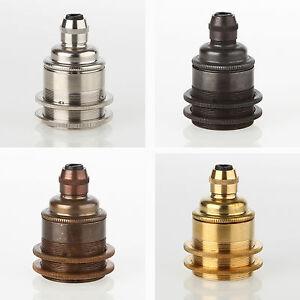 E27 retro vintage metall lampen fassung mit zugentlaster 2 for Lampen n und l