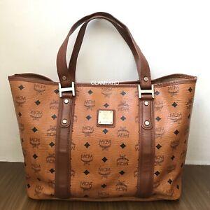 Pre-Owned-Authentic-MCM-Cognac-Shoulder-Bag-Handbag