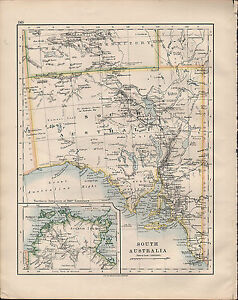 Map Of South Australia And Northern Territory.1914 Map South Australia Northern Territory Arnhem Land Ebay