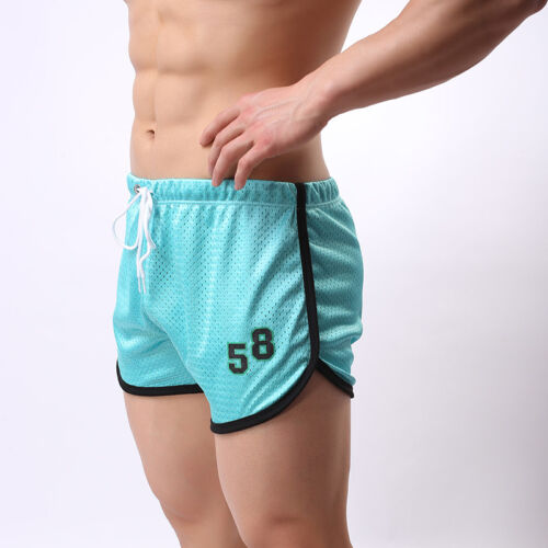 Men/'s Workout Sports Gym Shorts Running Jogging Mesh Beach Trunks Breathable