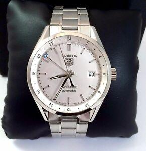 0e22cfaea3b2 Tag Heuer Carrera Calibre 7 Twin Time Mens Automatic Watch Exc.Cond ...