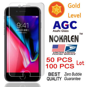 100x-Wholesale-Lot-Tempered-Glass-Screen-Protector-for-iPhone-6-7-Plus-6s-8-Plus