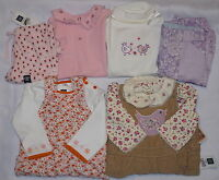 Baby Girl Clothes Lot3-6gap-arizonapink Floral Romper-purple Pants-top-cords