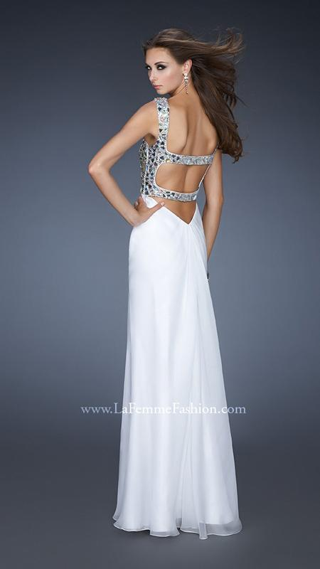 418 NWT WHITE LA FEMME PROM PAGEANT PAGEANT PAGEANT FORMAL WEDDING DRESS GOWN SIZE 6 2e5e0a