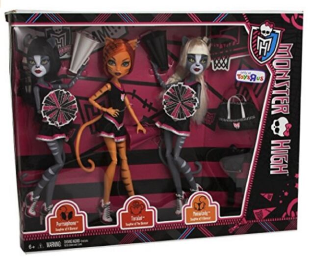 Monster High 3pack Fearleading Werecats Toralei Meowlody Purrsephone Cheerleader For Sale Online Ebay