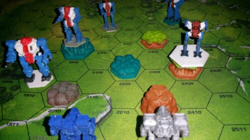 Painted. 3D Printed Forest on Hex by Ill Gotten Games
