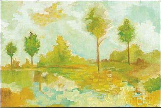Melissa Averinos  Golden Hour IV Keilrahmen-Bild Leinwand Bäume grün Frühling