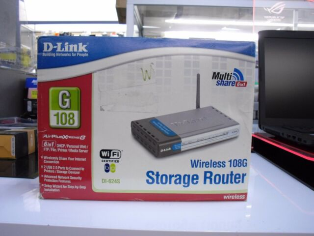 Brand New D-link Airplus Extreme G 802.11G Wireless Storage Router DI-624S