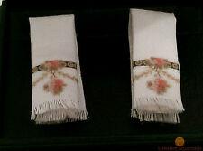 Reutter Hand Towels (2) Victorian Rose Design 1:12 Dolls House Miniature 1.766/4
