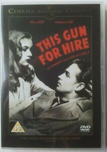 This Gun For Hire 1942 Starring Alan Ladd Veronica Lake 2008 UK Region 2 DVD B&W