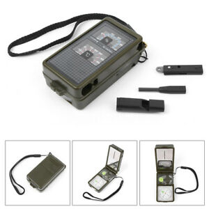 10 in 1 Multi-function Compass Fit Survival Military Camping Outdoor Hiking Kit