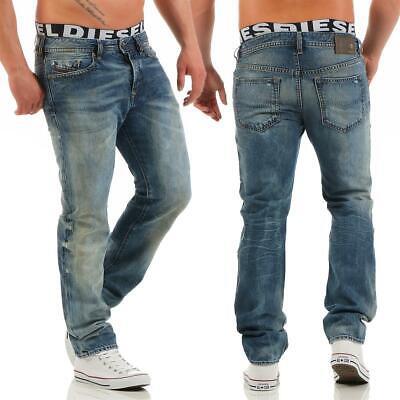 Diesel Buster 0845l Jeans Regular Slim Tapered Jeans Uomo Denim Pantaloni-mostra Il Titolo Originale