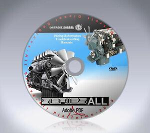 DD60 DETROIT DIESEL 60 SERIES ENGINE SERVICE SHOP REPAIR MANUAL on CD