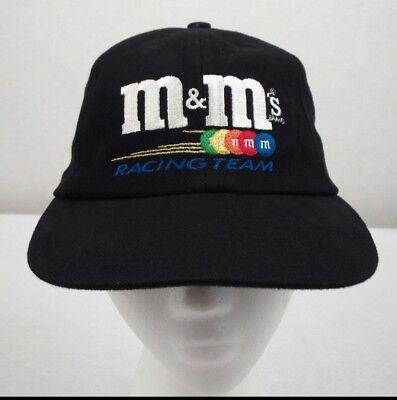 M&m's Nascar #36 Ken Scharder Racing Team Black Adjustable Cap Hat Pure Whiteness Racing-nascar Fan Apparel & Souvenirs