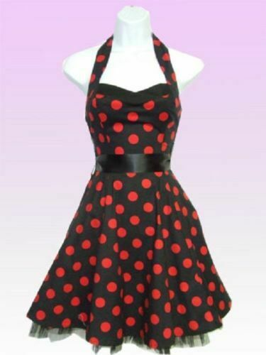 ♡♡Robe Rockabilly Pois ♡♡H/&R LONDON Gros Pois T.12UK=FR38 Fifty/'s