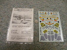Microscale F-84g Thunderjets #2 Decals 1/72 203 J