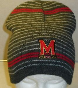 bc06fc6be5227 Image is loading MARYLAND-TERRAPINS-Terps-Adult-Winter-Hat-Beanie-New-