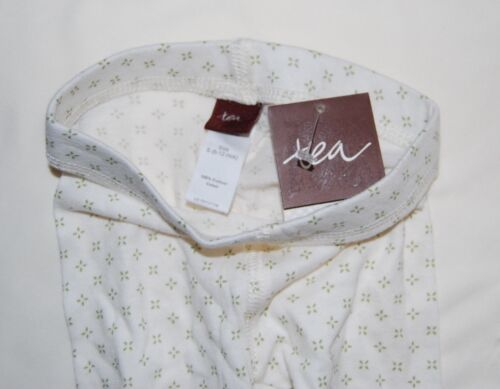 NWT Tea Collection Infant /& Toddler Girls Cream Green 4-Point Floral Leggings