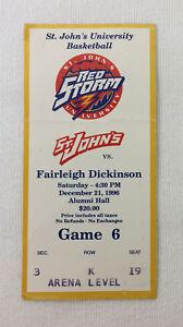 December-21-1996-ticket-stub-ST-JOHN-039-S-v-FAIRLEIGH-DICKINSON