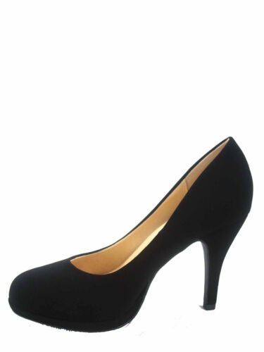 Women/'s Classic Patent Comfort Round Toe Low High Heel Pump Shoes Size 5.5-11