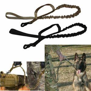 Retractable-nylon-Laisse-chien-Tactique-K9-pour-grand-chien-Heavy-Duty-Coupleur