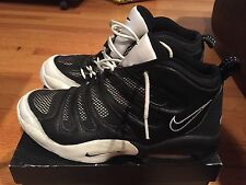 1990s Mens Vintage Nike Air Flight Payton ESBL Black White Size 12 Used OG NDS