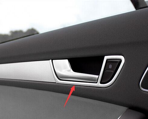 FITFor Audi A4 B8 2008-2015 Interior Side Door Handle Bowl Cover trim 4pcs