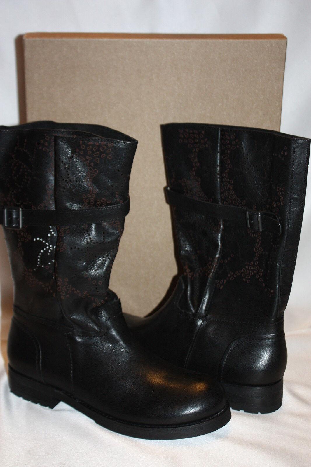 Nuevo  nuevo nuevo nuevo En Caja  Bacio 61 Negro Cuero Perforado botas Motocicleta de prolisso  260  mas barato